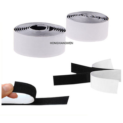 Double Sided Self Adhesive 25m/Roll Hook And Loop Tape SGS
